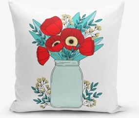 Față de pernă Minimalist Cushion Covers Flowers in Vase, 45 x 45 cm