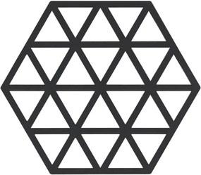 Suport din silicon pentru vase fierbinți Zone Triangles, negru