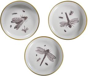 Set 3 farfurii decorative WOOOD Insect