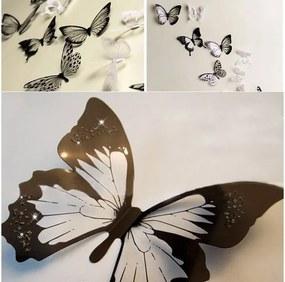 Set autocolante 3D Ambiance Butterflies Chic Black, 18 buc.
