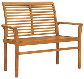 47407 vidaXL Bancă de grădină, 112 cm, lemn masiv de tec