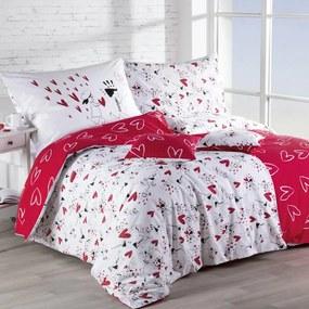 Lenjerie de pat din bumbac Dragoste lungime prelungită