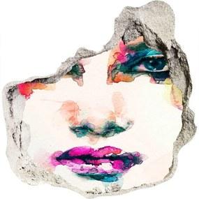 Fototapet 3D gaură în perete Portret de femeie