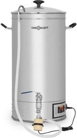 OneConcept Hopfengott 30, boiler de boabe, 30 litri, 30 - 140 °C, pompă de circulație, oțel inoxidabil