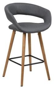 Set 2 scaune de bar Actona Gill, gri închis