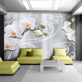 Fototapet Bimago - White finesse + Adeziv gratuit 250x175 cm