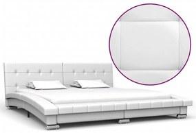 280625 vidaXL Cadru de pat, alb, 200 x 160 cm, piele ecologică