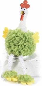 Decoratiune Gaina textil verde 7 cm x 8 cm x 11 h