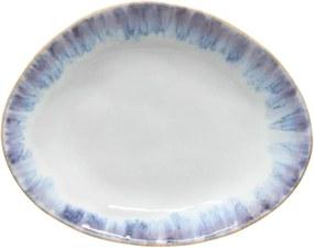 Farfurie ovală din gresie ceramică Costa Nova Brisa, ⌀ 20 cm, albastru