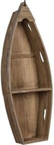 Raft din lemn in forma de barca 81 cm Boat Ixia