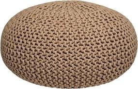 Puf tricotat LABEL51 Knitted XL, bej
