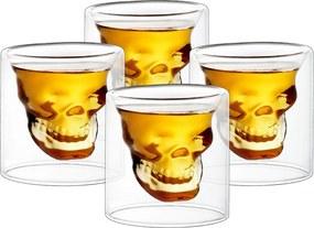 Set pahare shot 4home Skull HotCool, 20 ml, 4 buc.