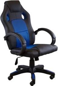 Scaun gaming SIG0071 Negru+Albastru