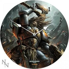 Ceas de perete din sticlă Warhammer 40000 Space Wolves