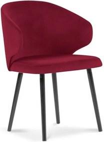 Scaun cu tapițerie de catifea Windsor & Co Sofas Nemesis, roșu