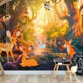 Fototapet Bimago - Animals in the Forest + Adeziv gratuit 150x105 cm