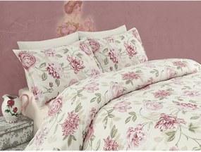 Lenjerie de pat pentru pat dublu Care, 200 x 220 cm, roz