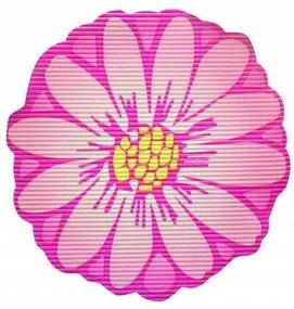 Covoras baie din spuma poliuretanica, Flower roz