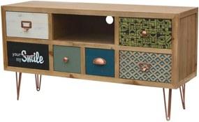 Comoda TV din lemn de brad 110 cm Portofino Livin Hill