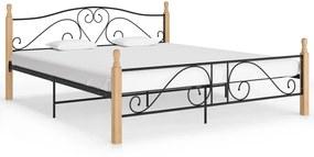 324944 vidaXL Cadru de pat, negru, 180 x 200 cm, metal