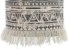 Abajur Boho din textil 35x23 cm