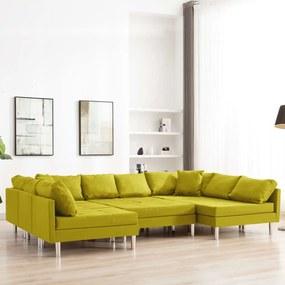 287211 vidaXL Canapea modulară, galben, material textil