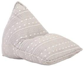 287729 vidaXL Canapea tip sac, maro deschis, material textil, petice