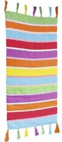Covor tesut Multi dungi colorat 65x130 cm