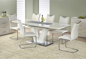 MISTRAL masă albă lucioasă