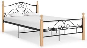 324941 vidaXL Cadru de pat, negru, 120 x 200 cm, metal
