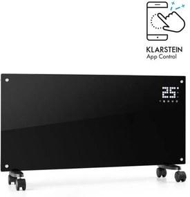 Klarstein Bornholm Smart, convector electric, 2000 W, WiFi, afișaj LED, cronometru, IP24, negru