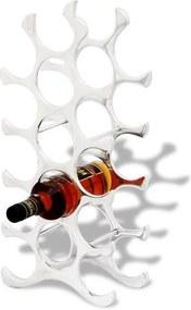 Suport rastel din aluminiu pentru 15 sticle de vin, argintiu