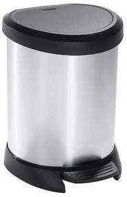 Cos de gunoi, 20 L, argintiu/negru, CURVER