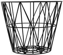 Cos Metalic Mare cu Model Geometric - Metal Negru diametru(60cm) x inaltime(45cm)