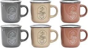 Set 6 cesti Maison din ceramica in nuante pastelate