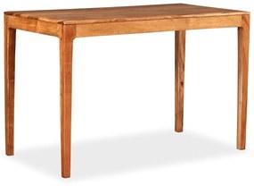 244958 vidaXL Masă de bucătărie, lemn masiv, 118x60x76 cm
