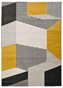 Covor Universal Elle Multi, 160 x 230 cm, gri - galben