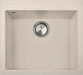 Chiuveta bucatarie granit CookingAid Cube ON5610 Bej Pigmentat / Avena + accesorii montaj