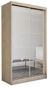 Expedo Dulap cu uși glisante și oglindă MARISA, sonoma, 150x216x61