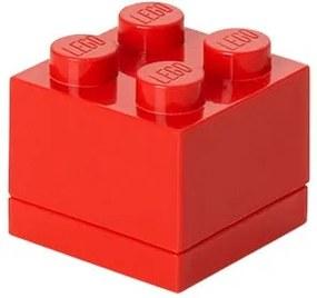 Cutie depozitare LEGO® Mini Box II, roșu