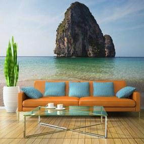 Fototapet Bimago - Rock formation by shoreline, Andaman Sea, Thailand + Adeziv gratuit 400x309 cm