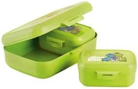 Cutie de gustări Tescoma Dino 3 bucăți, verde