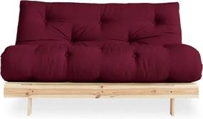 Canapea extensibilă Karup Design Roots Raw/Bordeaux