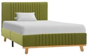 286638 vidaXL Cadru de pat, verde, 100 x 200 cm, material textil