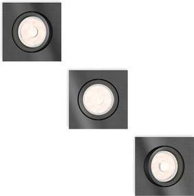Philips 50403/99/PN - SET 3x Lampa incastrata MYLIVING DONEGAL 3xGU10/5,5W/230V