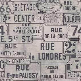 MINDTHEGAP Tapet - Street Signs Neutral