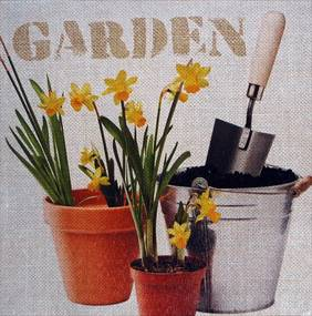 Tablou pe pânză - Garden 1, 28x28 cm