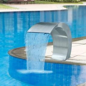 41685 vidaXL Fântână de piscină cascadă grădină, 45 x 30 x 60 cm,  oțel inoxidabil