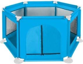 Spatiu de joaca tarc pentru copii tip piscina, pliabil, dimensiune 125/110 / 65cm, culoare Albastru deschis