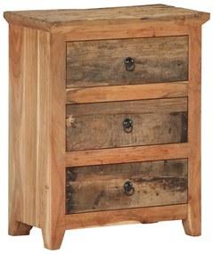 320382 vidaXL Servantă, 60 x 33 x 75 cm, lemn masiv de acacia/lemn reciclat